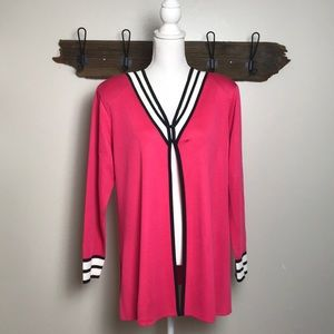 Misook Cardigan Two Button Pink EUC